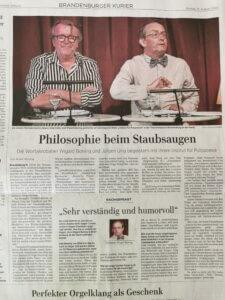 Bericht über die Lesung in der Theaterklause, Brandenburg a. d. Havel